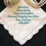 Personalized Wedding Handkerchief f..