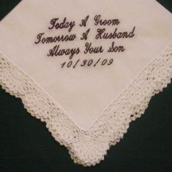 Wedding hanky Mother of the Groom with Gift Box 55S